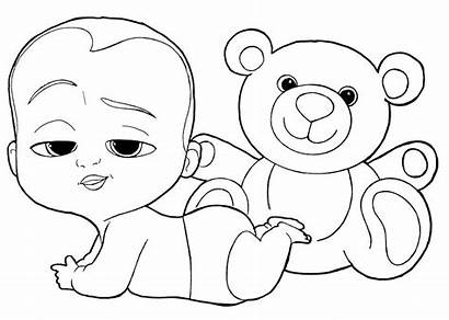 Coloring Boss Pages Printable Bear Teddy Sheets