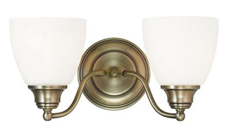 Antique Bathroom Lighting Fixtures by Antique Brass Somerville Livex 2 Light Bathroom Vanity