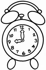 Clock Coloring Pages Alarm Appointment sketch template
