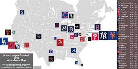 mlb major league baseball  attendance map mlb