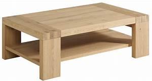 Table Basse Rectangulaire Bois : table basse rectangulaire bois ch ne paula ~ Teatrodelosmanantiales.com Idées de Décoration