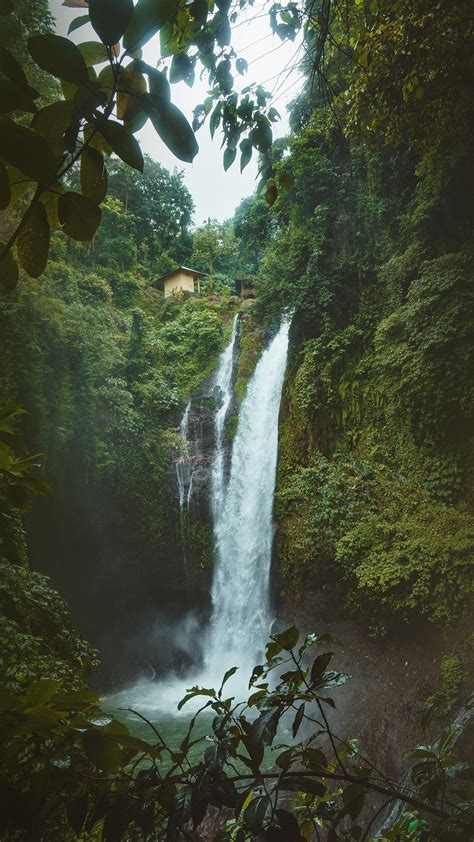 waterfall nature amazon summer mountain iphone plus papers