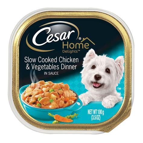 cesar delights chicken  vegetables dog food petco
