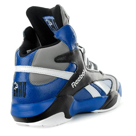 reebok shaq attaq team basketball reebok shaq attaq team royal black shoes