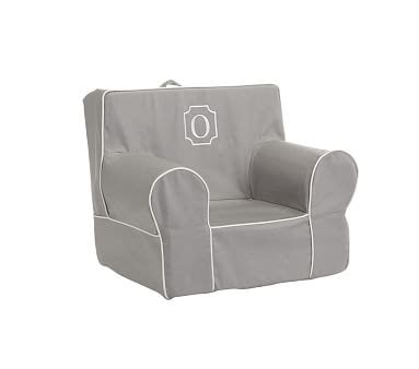 Pottery Barn Anywhere Chair Slipcover by My Gray With White Piping Anywhere Chair 174 Slipcover