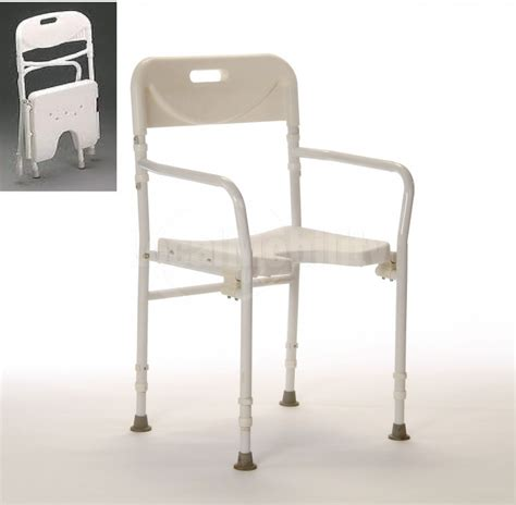 adjustable height folding shower chair local mobility