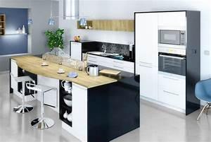 alleger un ilot central dans votre cuisine grace a l With table moderne salle À manger pour petite cuisine Équipée
