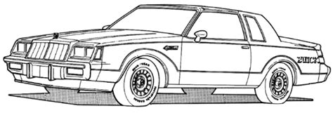 Buick Grand National Logo Drawing Sketch Coloring Page