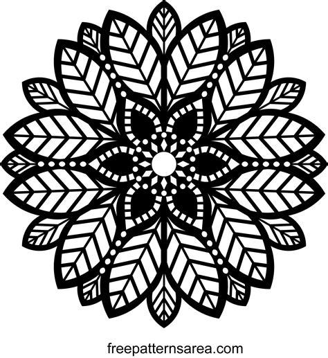 Multilayer laser cut files mandala. Decorative Leaf Ornament Mandala Pattern   FreePatternsArea