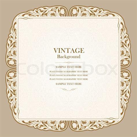 Vintage background elegant wedding invitation card