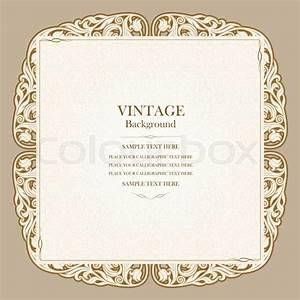 vintage background elegant wedding invitation card With wedding invitation flower ornaments