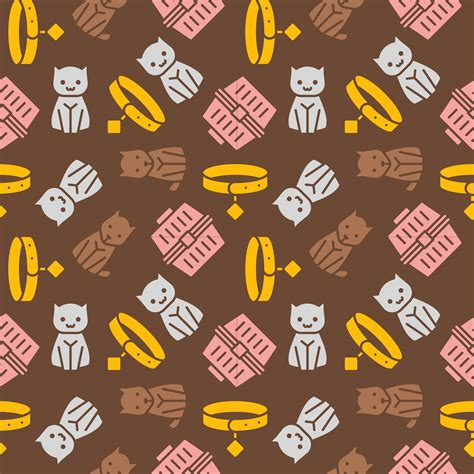 cat  dog themeseamless pattern  wallpaper