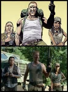 Abraham Eugene Rosita Walking Dead Comic