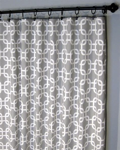 17 best ideas about geometric curtains on grey