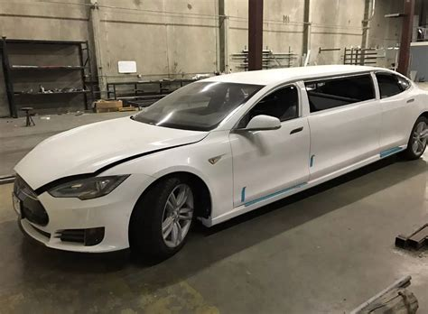 A Limousine by World S Tesla Model S Limo Selling For 67k On Ebay