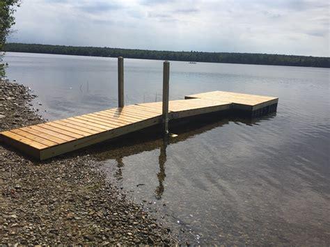 nunn floating wood dock  maine  dockguyscom