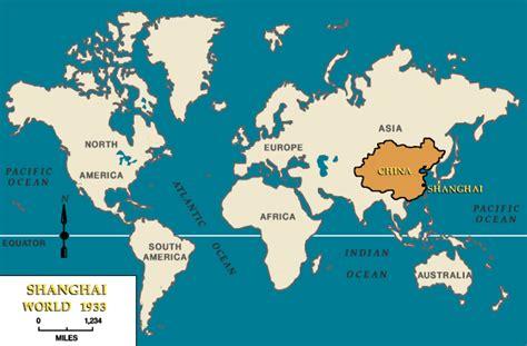Shanghai Carte Du Monde by Le Monde De 1933 Avec Indication De La Chine Et De Shanghai