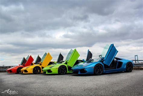 Taste The Rainbow Of Lamborghini =) #blue #green #yellow