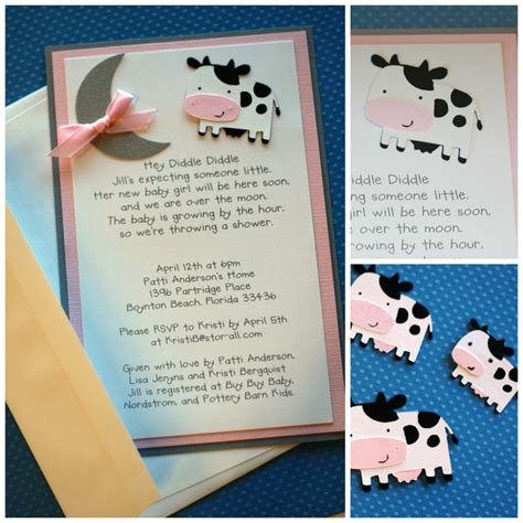 hey diddle diddle  baby shower invitation baby shower