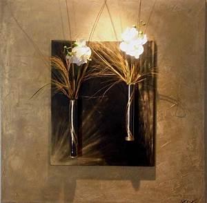 tableau floral et abstrait pour une deco design et moderne With chambre bébé design avec tableau avec fleur orchidee