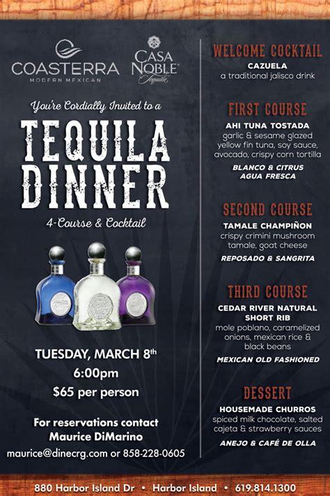 casa noble tequila dinner  coasterra cohn restaurant group
