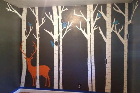 Kinderzimmer Wandgestaltung Wald by Forest Nursery Mural Painted Boy S Room Ideas
