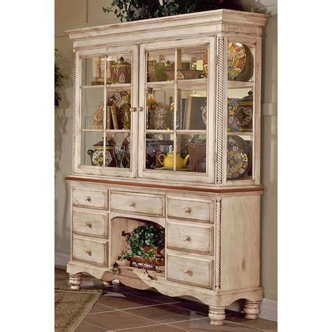 white buffet table with wood top wilshire wood buffet table w optional hutch in antique
