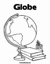 Coloring Globe Printable Pages Suitcase Colouring Earth Sheet Print Popular Worksheet Getcoloringpages Getcolorings sketch template