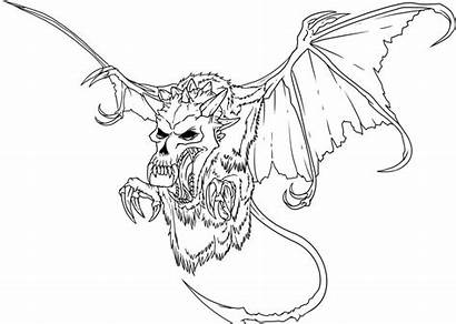 Scary Coloring Pages Skeleton Bat