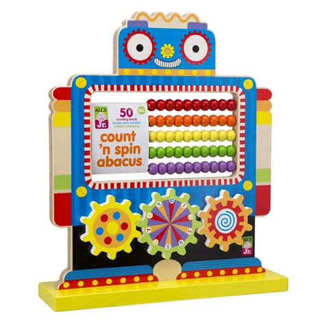 count n spin abacus robot developmental wood from 523 | sq 1999R front angle
