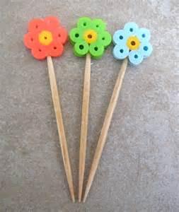 Easy Perler Bead Flower