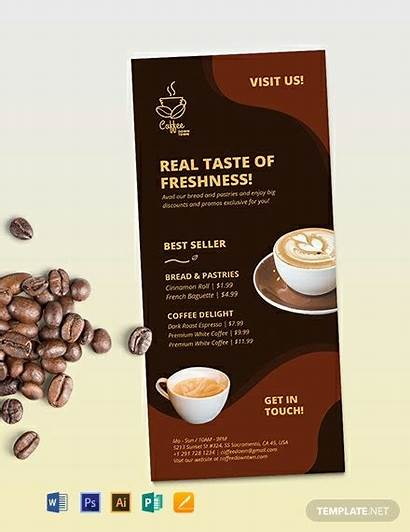 Card Rack Advertisement Coffee Template Agency Examples