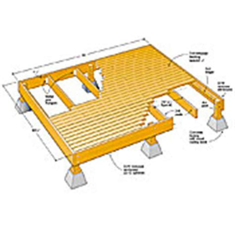 12x16 Free Standing Deck Plans by Deck Plans How To Build A Deck
