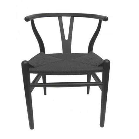 chair wishbone dining in black by mrd home cranmore home