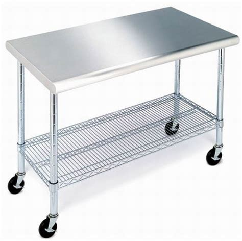 stainless steel table with casters new stainless steel top work table kitchen prep nsf
