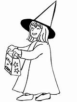 Coloring Pages Halloween Trick Treater Sheets Treat Witch Caramel Polly Peat sketch template