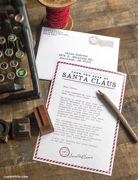 printable letter  santa christmas box pinterest