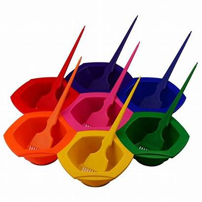 Bowl Brush Rainbow Dye Coloring Brushes Outstanding