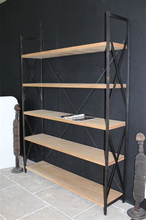Etagere Wood L by Shelves In Wood And Steel