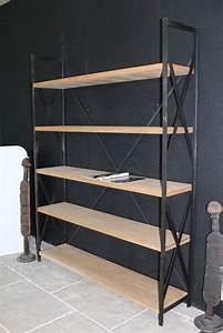 Etagere En Fer Pour Garage : tag re en fer forg et bois hauteur 200 cm bca ~ Edinachiropracticcenter.com Idées de Décoration