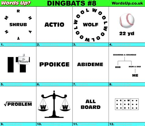Some of the levels are really difficult and hence we have solved all the levels to provide answers and cheats for everyone. Words Up? Dingbats Quiz #8 | Over 670 Dingbats!