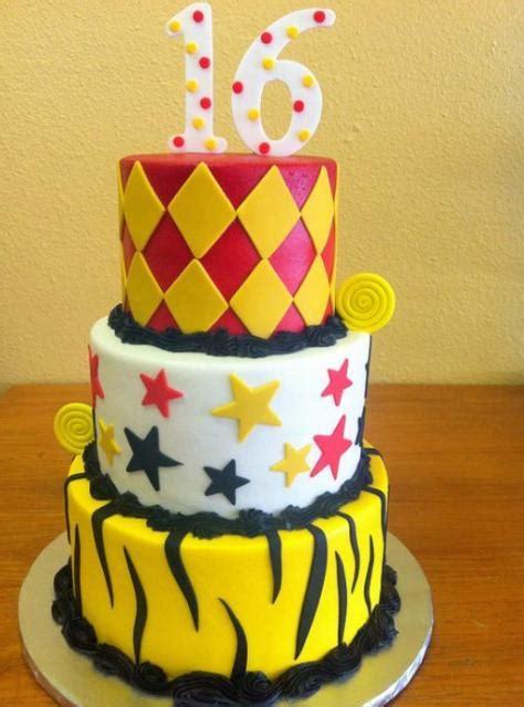 3 tier 16th birthday cake with stars, zebra stripes and ...