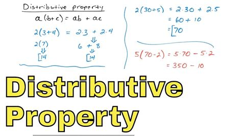 11  The Distributive Property Of Multiplication In Algebra, Part 1 Youtube