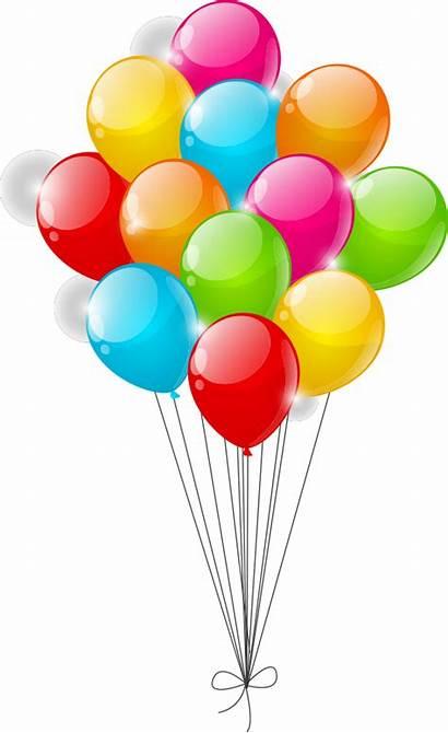 Balloons Balloon Clipart Globos Cartoon Colorful Birthday