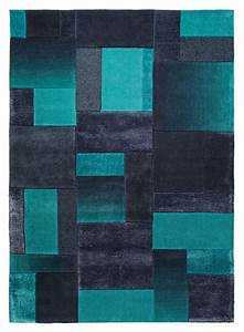 tapis bleu patchwork saint maclou deco contemporaine With tapis vert canard