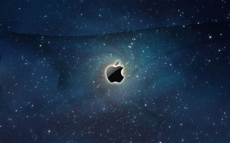 Apple Logo Galaxy Wallpaper [1600x1000]