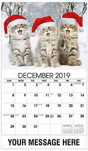 Printable December Calendar Kittens Promotional Calendar 65 Business Advertising