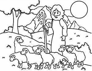 The Good Shepherd The Lost Sheep Coloring Pages For Kids # ...