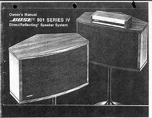Bose 901 Series Iv Speaker System Owner U0026 39 S Manual