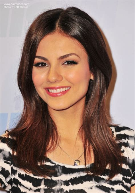 victoria justice long laid  hairstyle  layers